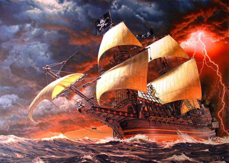 Daniel bechennec golden hind version pirate - Image bateau pirate ...