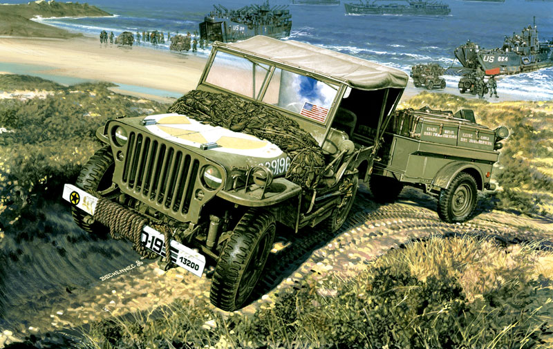 Daniel Bechennec Willys Mb Jeep Amp Trailer 1944